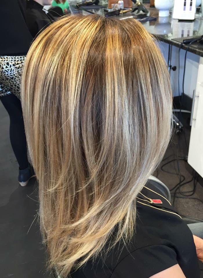 Blonde balayage. Balayage. Dark blonde balayage. Warm blonde balayage. Summer hair. Fall hair. Hair by Mallory at B Young Salon Wichita KS