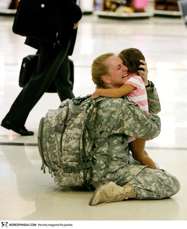 Terri Gurrola is reunited with her daughter after serving in Iraq for 7 months