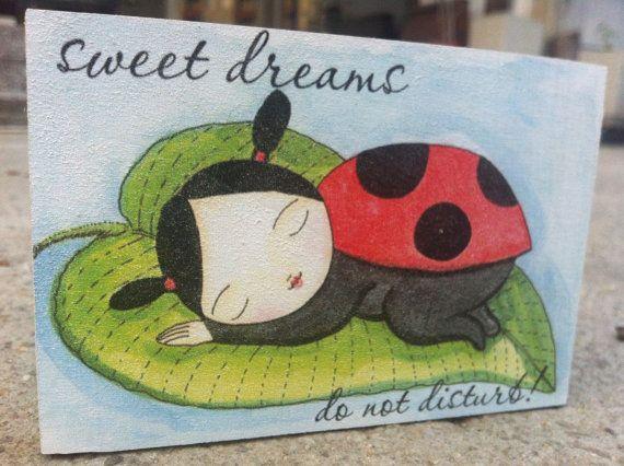 Kids Room Decor nursery door sign sweet dreams door sign by SunFla, $16.00