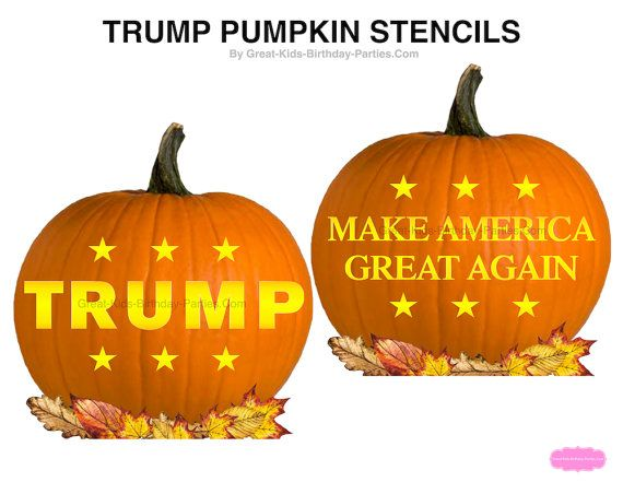 TRUMP Pumpkin Stencils