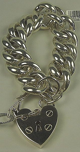 Large curb link silver bracelet with heart shape large padlock Von Treskow is a Melbourne based jewellery design company founded in the summer of 2004. Von Tre