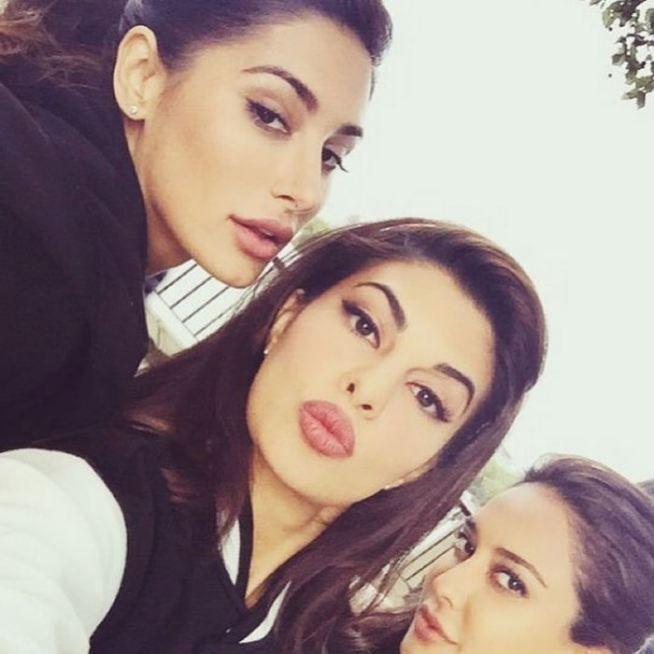Nargis Fakhri, Jacqueline Fernandez and Lisa Haydon in London for the shoot of housefull 3