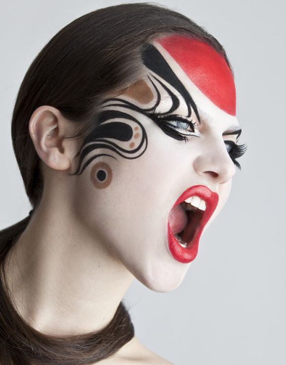 Kabuki Face Paint | Japanese Face Paint | Kabuki Faces | Pinterest | Face Painting Designs ...