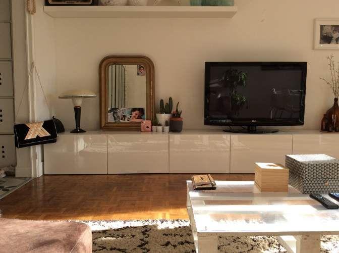 meuble tv ikea besta burs occasion meuble brun noir ikea clasf - Meuble Tv Ikea Expedit