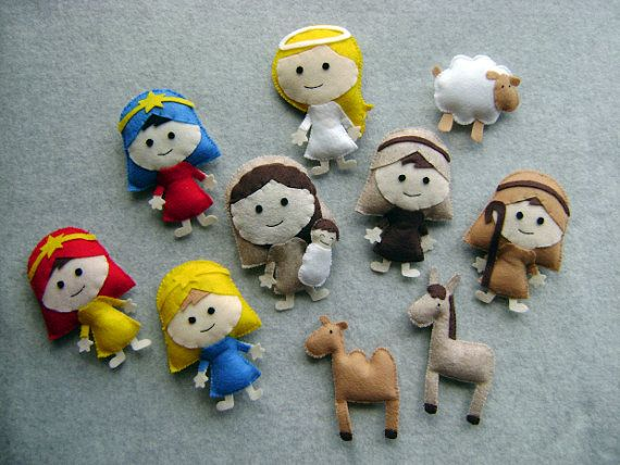 handmade nativity set on etsy--WOW! I would love to make this, but it would take me a while!