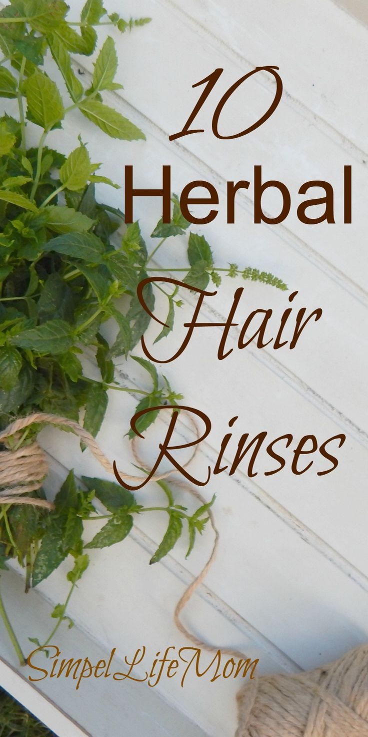 10 Herbal Hair Rinses to replace store bought shampoos and conditioners from Simple Life Mom