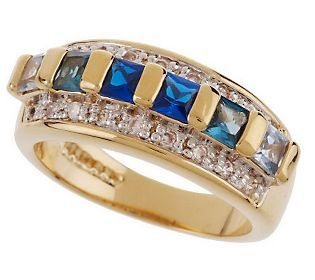 Jacqueline Kennedy Shades of the Sea Simulated Sapphire Ring