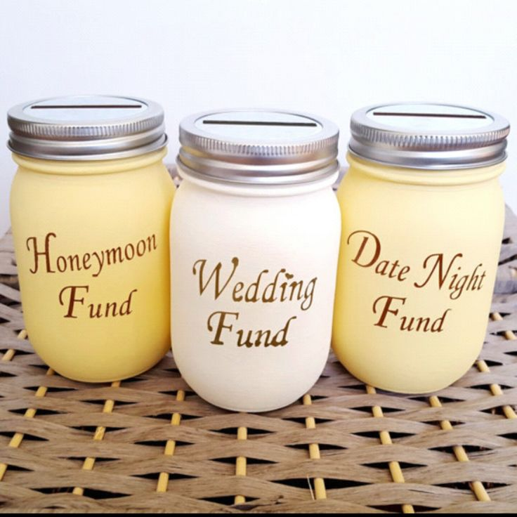 New item in the shop! Mason jar funds for a fun twist of the classic piggy bank. Wonderful engagement gift or bridal shower gift!
