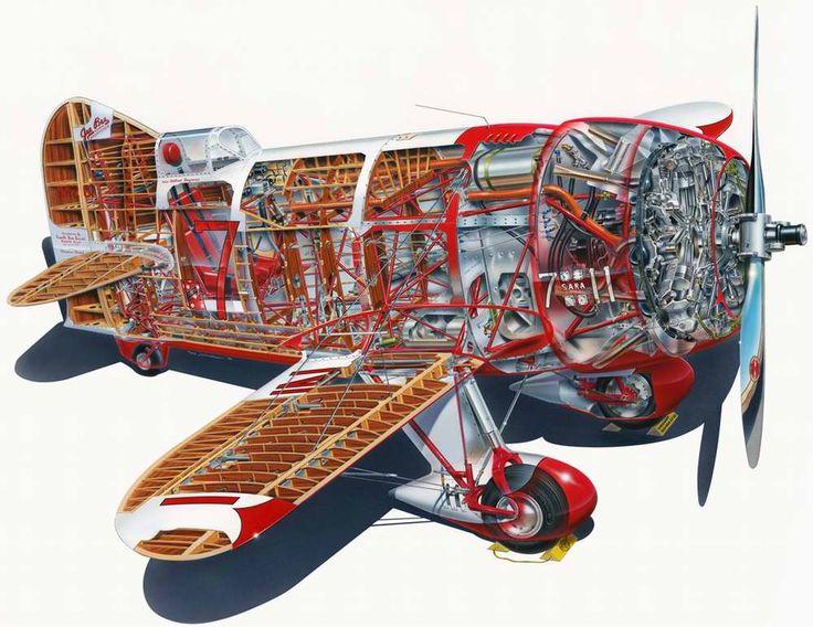 800hp Gee Bee R-1 - гоночный самолет, 1932 год (США)