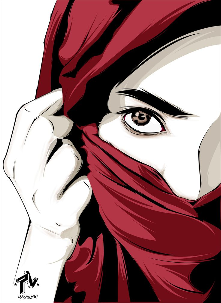 hijab arabic girl, manual trace using mouse and illustrator cs5,support young boy designer from malaysian