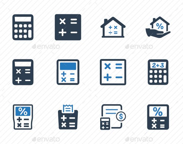 Math Calculation Icons Blue Version Icon Math Icon Design