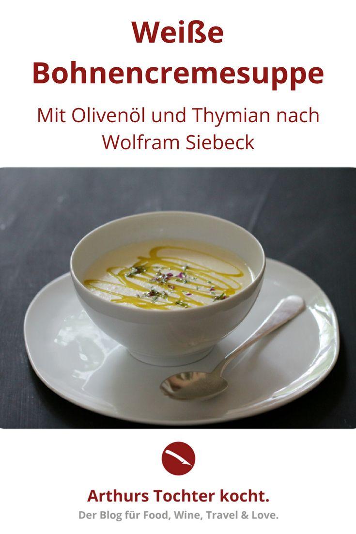 Einfaches hausfarbendesign draußen aus meinem lieblingskochbuch weiße bohnencrèmesuppe mit olivenöl