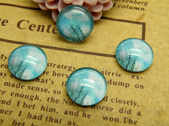 Handmade Glass Cabochon 10pcs 12mm Image Glass by DIYornament, $3.00