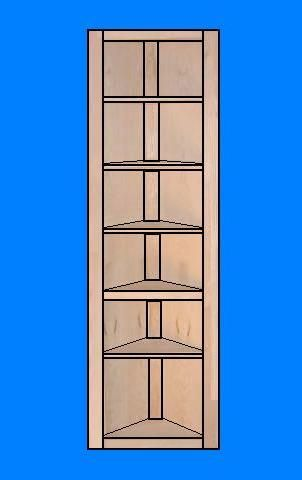Free Corner Shelf Plans - How to Build A Corner Shelf...I need 3 of these for our dining room, there are books scattered everywhere right now!