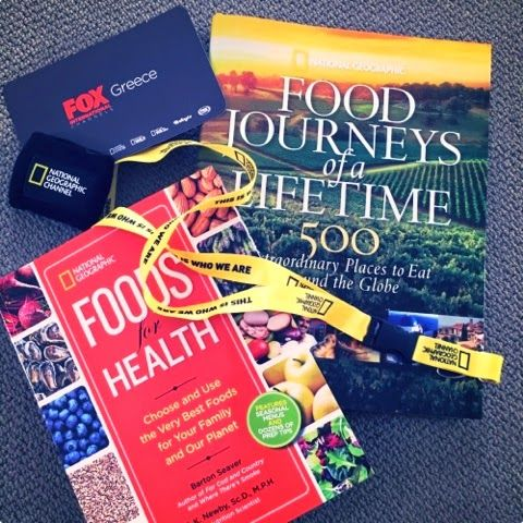 Join the contest and win theese amazing books, plus tickets to the event by #Eat #StoryOfFood #NatGeoChannelGR