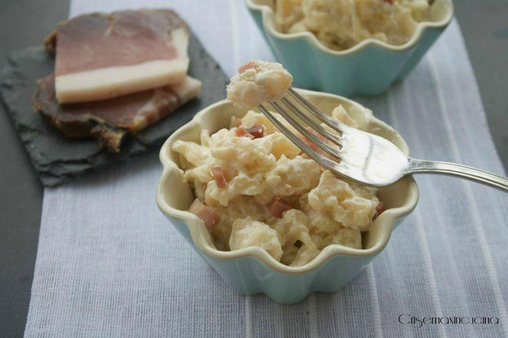 i gnocchetti tirolesi panna e speck un primo piatto saporito e gustoso, ideale nelle fredde giornate invernali, ottimi anche scaldati.