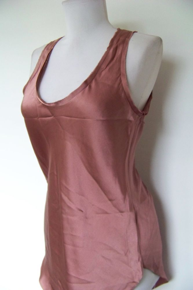 80b55c9feae85 5185 lovely! nwt    acrobat    dusty pink 100% silk tank top s ...