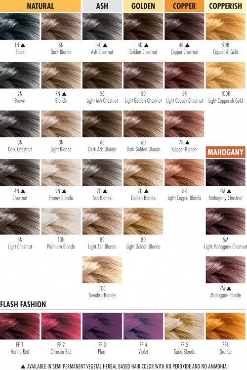 Herbatint color chart herbatint is vegan and safe even though