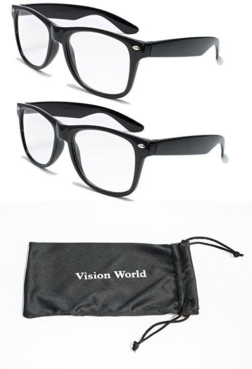 943f78f3aa 2 Pairs Deluxe Wayfarer Style Reading Glasses - Comfortable Stylish Simple  Readers Rx Magnification (2 black pair