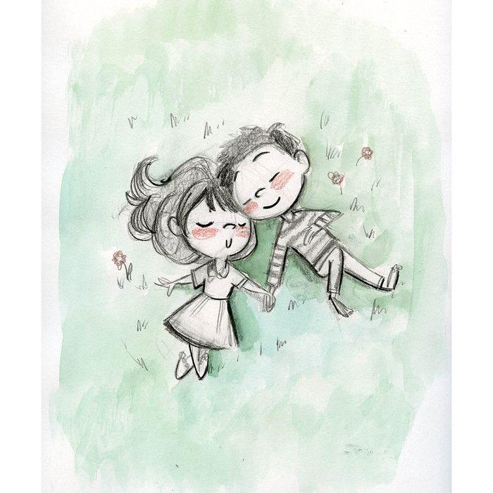 Genevieve Santos: Sleepy Picnic Print