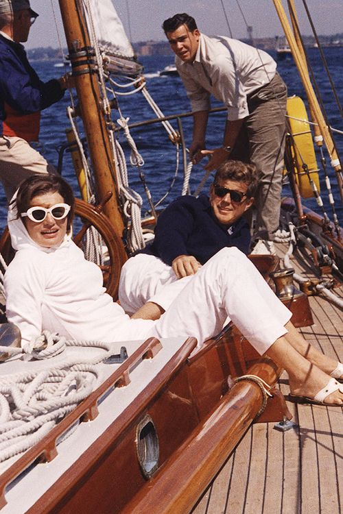 """ President John F. Kennedy and First Lady Jaqueline Kennedy, Newport, 1962. """