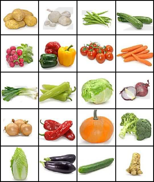 images of vegetables and their names | Can you name the vegetables by their picture? Quiz by when_flies_pig ...