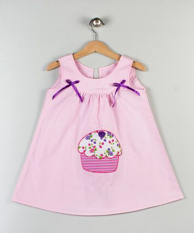 A Turkish High quality Brand. Pink Cupcake Appliqué Dress by Cotton Candy: £12.99 & Under! on #zulilyUK today!-