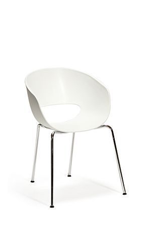 """Moulded plastic chair with chrome plated metal legs. Lightweight, modern, great for an urban style dining setting and outdoor use.<div class=""""pdpDescContent""""><ul><li> Plastic</li><li> Chrome plated metal legs</li><li> Assembly required</li></ul></div><div class=""""pdpDescContent""""><BR /><b class=""""pdpDesc"""">Dimensions:</b><BR />L56xW50xH80 cm<BR /><BR /><div><span class=""""pdpDescCollapsible expand"""" title=""""Expand Cleaning and Care"""">Cleaning and Care</span><div class=""""pdpDescContent""""…"""