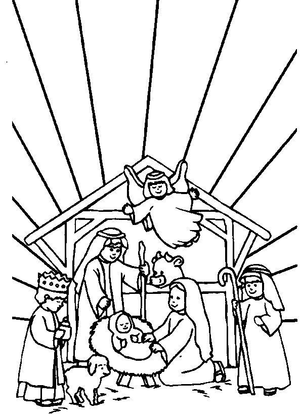 38 best Color sheets images on Pinterest | Nativity scenes, Nativity ...