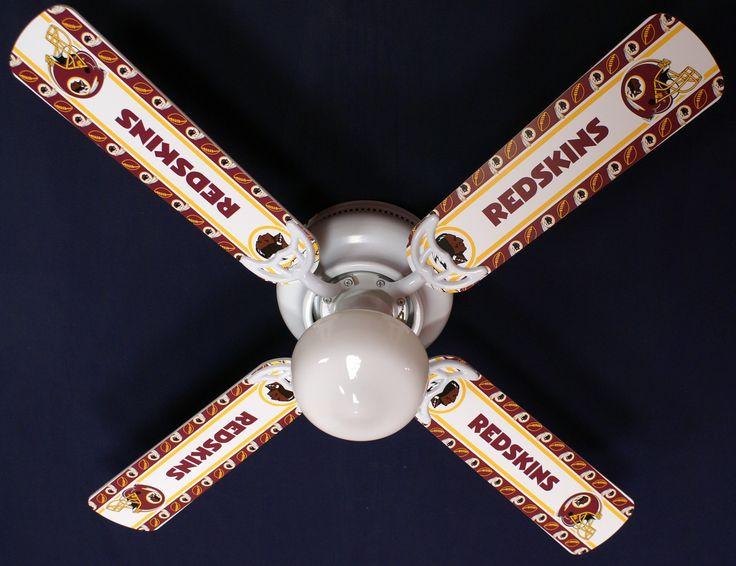 "New NFL WASHINGTON REDSKINS Ceiling Fan 42"""