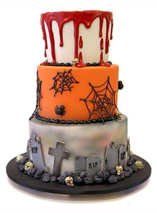 3 Halloween Graveyard Cakes