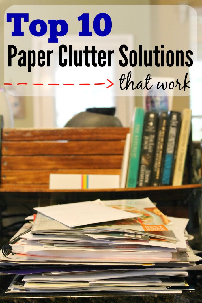 Top 10 paper clutter solutions that work. Declutter your counters with these tips. #ad #WorkBetterWithFellowes @Fellowes