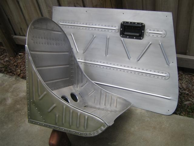 Bomber Style Door Panel And Seat P 47 Hot Rod Seats And