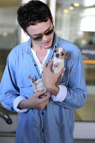 Anton Yelchin with a dog...as if I needed another reason to love him.