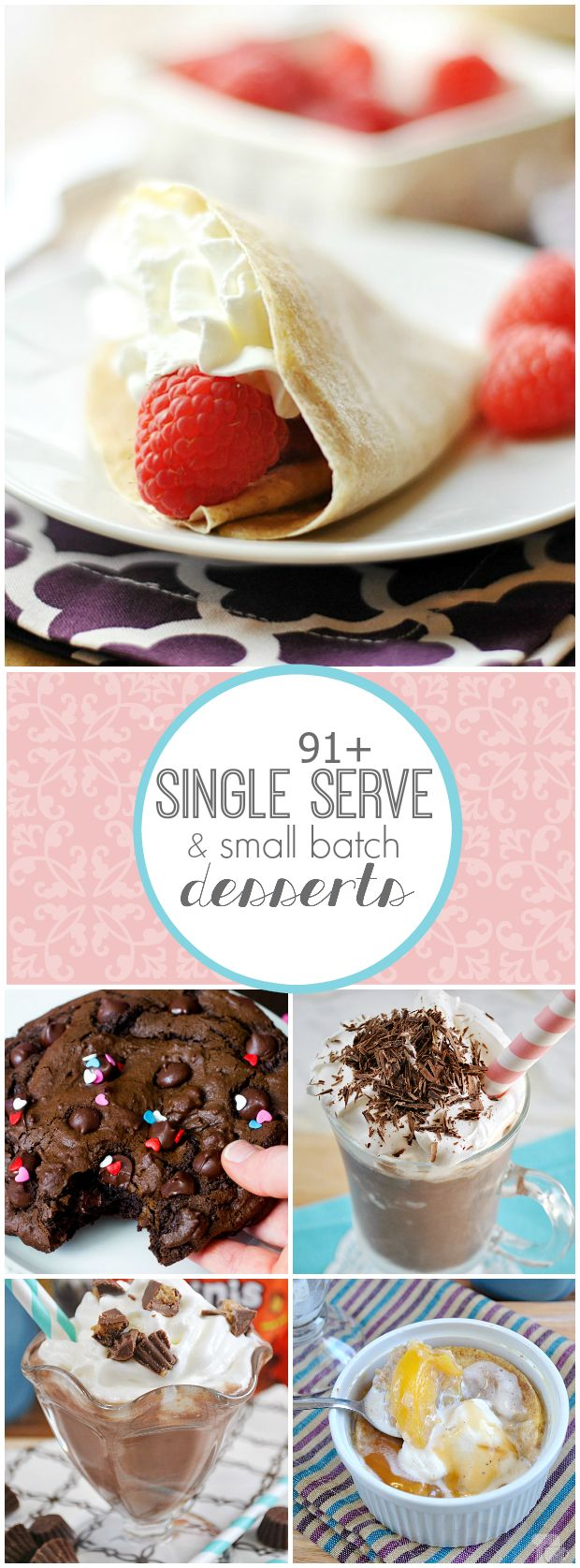 This is a very sad pin. Like, you make your own dessert because you want dessert so bad but have no one to share it with, hence the reason you want dessert and the reason why you need almost 100 options to choose from it happens so often. This is me. 91+ Small Batch and Single Serve Dessert Recipes