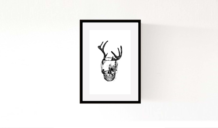 'Antlers & Skull' ©Morgan Connoley http://colourandskulls.bigcartel.com/
