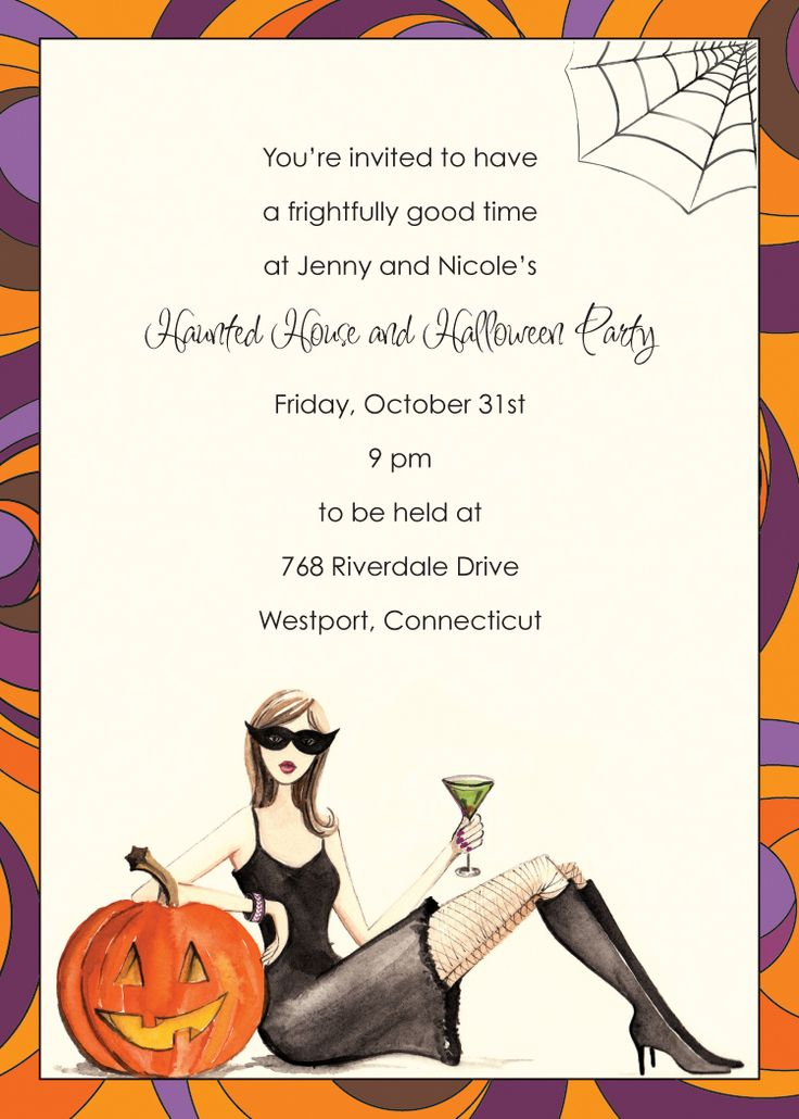 Personalize your Bonnie Marcus Collection Halloween Invitations with Beeyond Paper, LLC.