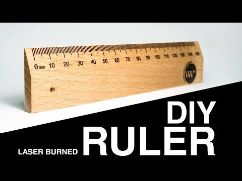 Make a wood ruler with a Laser engraver - YouTube