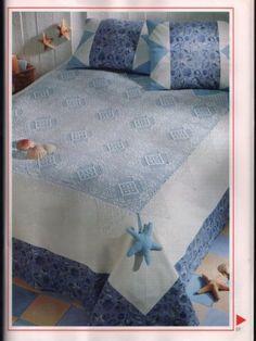 mavi dantel yatak örtüsü modeli » By nisa