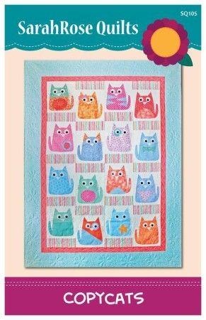 Copycats Quilt Pattern $10.00 + Intro to Applique (For Beginners) Video