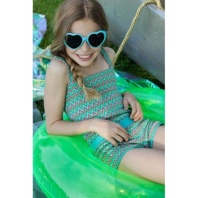 We Love ilovegorgeous.  If only we could afford their clothes...  *sigh*  Zig Zag Girl - Turquoise - Playsuits - Girls