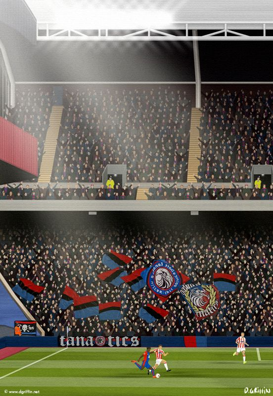 Crystal Palace FC Art - 'Fanatics'/ 'Ultras' Inspired by the Crystal Palace Fanatics/ Ultras in the Holmesdale Road stand at Selhurst Park.