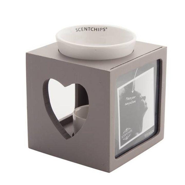 Met deze stijlvolle Scentchips brander met fotolijst verspreid je met je Scentchips een heerlijke geur door je huis.