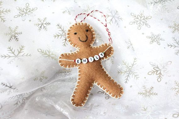 Christmas decoration, Personalised Christmas Ornament, Gingerbread Man…
