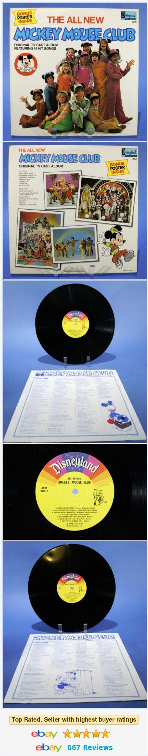 All New Mickey Mouse Club Vinyl Record Album LP Vintage Disneyland Records 1976  | eBay