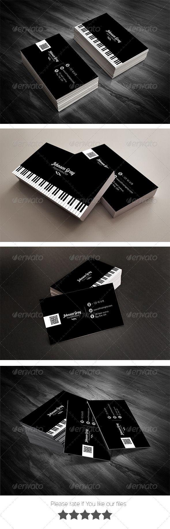 Musician Business Card Template #card #vcard Download: http://graphicriver.net/item/musician-business-card/8030356?ref=ksioks