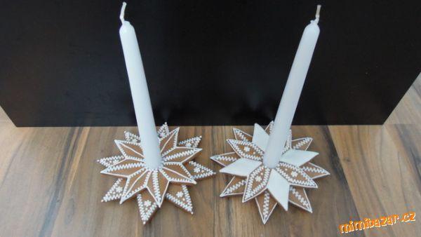 Perníkové vánoční svícny