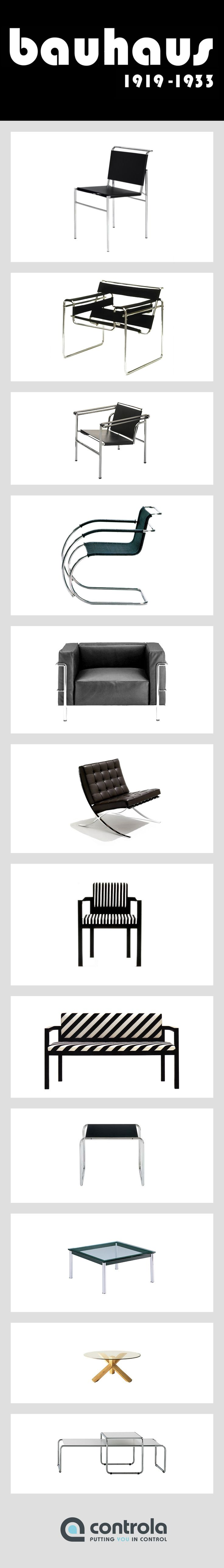 #bauhaus furniture Did you know the Wassily chair was inspired by the handle bars of Wassily Khandinskys bicycle?