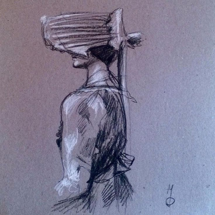 """Bonnet"" #drawing #markoconnellstudio"