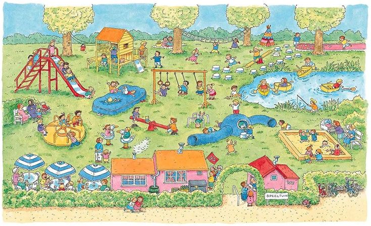 Praatplaat Bas - Speeltuin  (Getekend door Dagmar Stam)